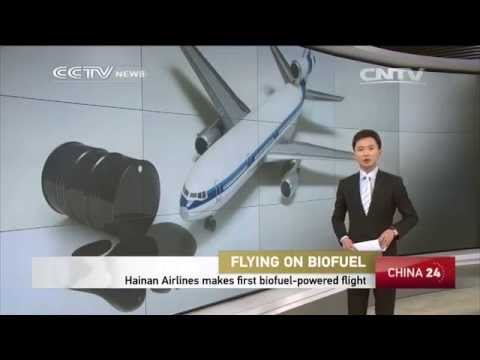 Hainan Airlines mark first biofuel-powered flight