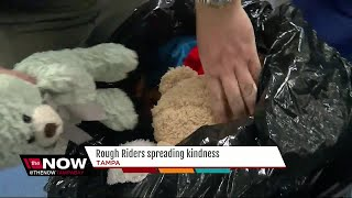 Rough Riders spread kindness by donating teddy bears