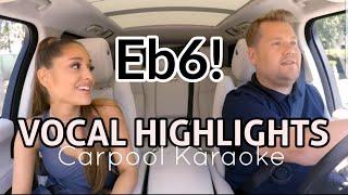 Download Lagu Ariana Grande 'VOCAL HIGHLIGHTS' - Carpool Karaoke Gratis STAFABAND