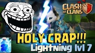 Clash of clans - Lightning level 7 + EQ clear hall 10 max