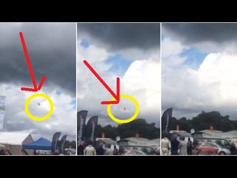 Dramatic Moment Stunt Plane Crashes At Cheshire Car Festival