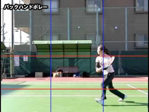 テニスナビ教室:宮﨑優実プロのバックボレー(クロス)