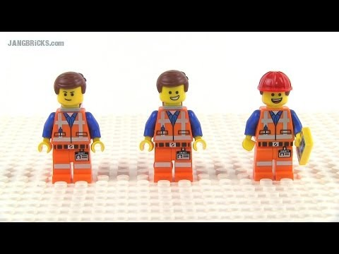 LEGO Movie Emmet minifigs compared! First 3 versions