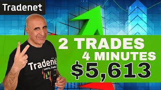 Live Day Trading - 2 trades - $5,613 Profit - 4 minutes!