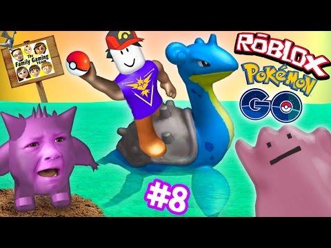 ROBLOX #8: POKEMON GO GET THAT LAPRAS!  Banana Smash Your Face! (FGTEEV Gameplay)