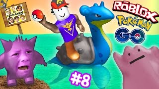ROBLOX #8: POKEMON GO GET THAT LAPRAS!  Banana Smash Your Face! (FGTEEV Gameplay)