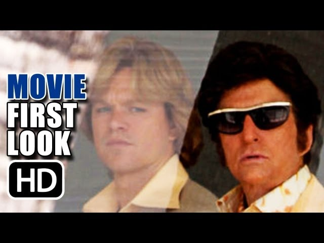 Behind The Candelabra First Look (2013) - Set Photos Matt Damon and Michael Douglas