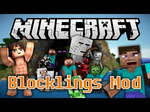 Minecraft Mody: The Blocklings Mod SZKOL BLOKI NA WOJOWNIKÓW ARMIA BLOKÓW