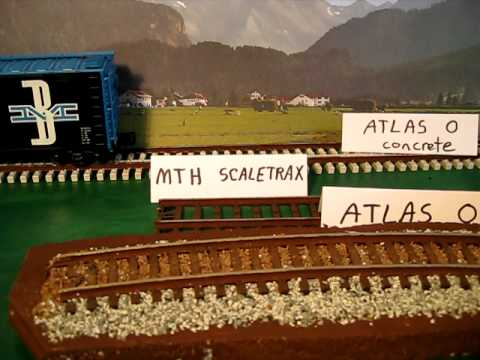 O gauge model railroad track survey - Atlas. MTH. Lionel. Ross. Gargraves
