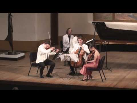 Brahms G minor Piano Quartet Live from Santa Fe 3/5