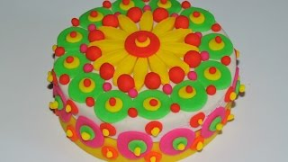 Play Doh Big Small Balls Cake Colored
