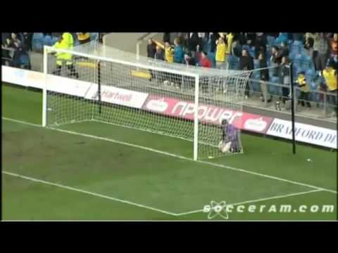 Leven from the halfway line...ish! The Oxford United midfielder's stunning lob is inch perfect.