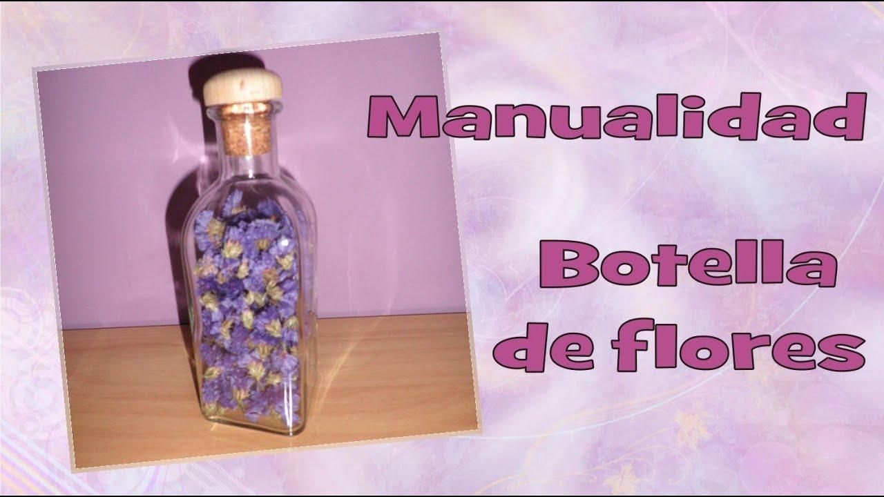 Manualidades para regalo o para decorar tu cuarto botella de flores milycreativity youtube - Manualidades para decorar tu cuarto ...