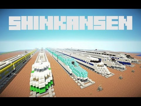 Japanese Shinkansen 0, 200, 300, 500, 700 , and E5 Series rebuilt in minecraft. Planet Minecraft: (including download) http://www.planetminecraft.com/project...