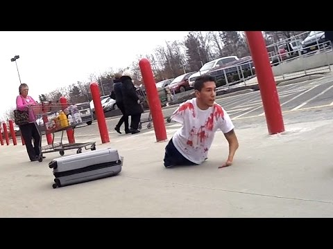 Bloody Body in Suitcase Prank - Pranks on People - Social Experiment - Funny Videos 2015