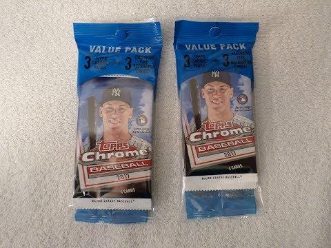 Two Value Packs of 2017 Topps Chrome Baseball Cards