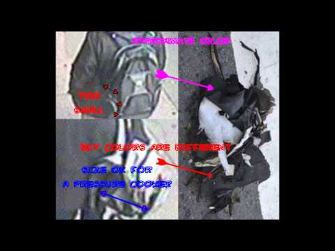 Boston bombing investigation - backpacks comparison - undercover FBI agent - HD clear picture