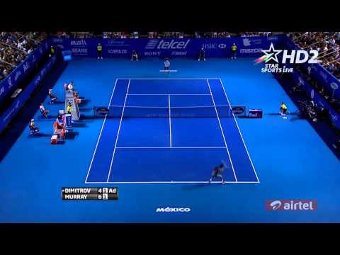 Grigor Dimitrov -- BEST POINT OF 2014 vs. Murray Acapulco SF