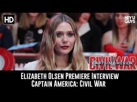 Elizabeth Olsen Premiere Interview - Captain America: Civil War
