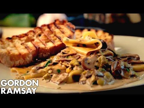 Mushroom, Leek and Tarragon Pasta - Gordon Ramsay