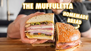 Best Muffuletta Of Your Life With Homemade Muffuletta Bread
