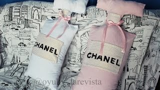 diy chanel pillow  | cojin enforma de perfume