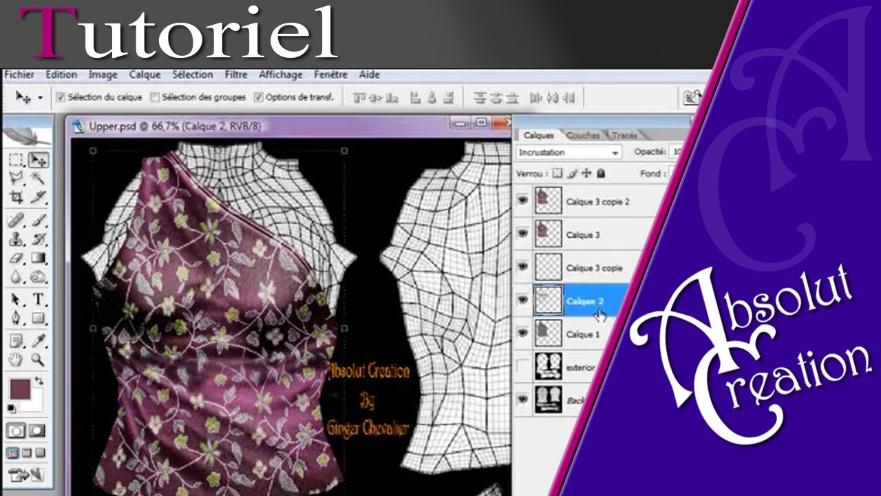 tuto template 02 in photoshop sl clothing second life