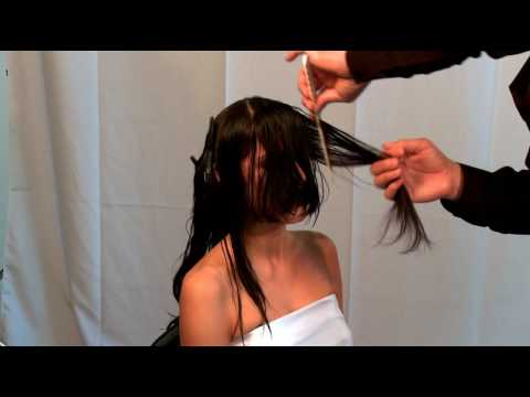 A Razor Cut Haircut Featuring The Paul Mitchell Carving Comb