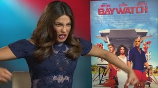 BAYWATCH: Priyanka Chopra, Zac Efron & Alexandra Daddario do impressions of Dwayne Johnson
