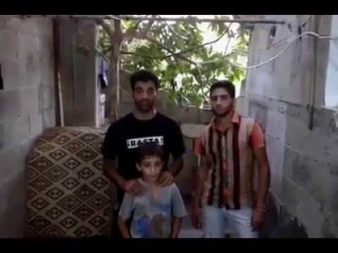 Rubble Bucket challenge in ‪#‎Gaza‬ by Abu Yazan and family