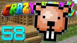 Minecraft Crazy Craft 3.0: BEAVER PRANK ON JEROMEASF #58 (Modded Roleplay)