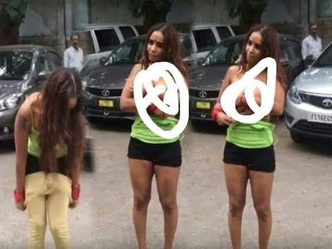 indian Actress Sri Reddy Removes her dress as protest