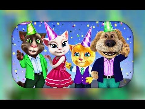 Моя Говорящая Анжела и Кот Том устраивают День Друзей!