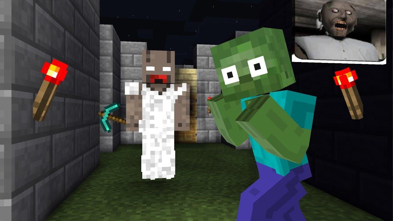 Monster School : GRANNY SCARY HORROR - Minecraft Animation