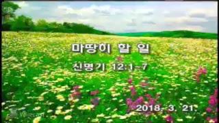 2018년 3월21일 수요1부 예배 생방송