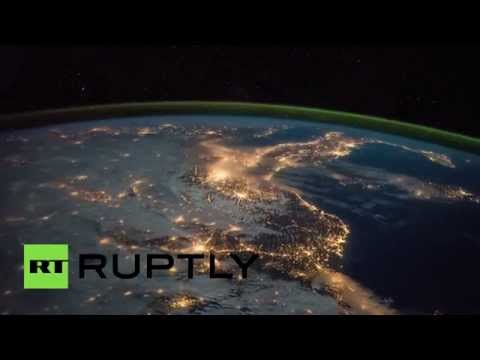 ISS night-vision timelapse: Lisbon, Madrid, Barcelona, Marseille, Milan, Turin, Zagreb, Belgrade