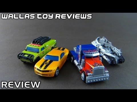 Toy Review - Optimus Prime. Megatron. Ratchet. Bumblebee - Transformers RPMs set 1