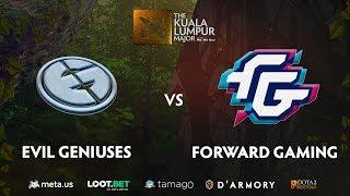Evil Geniuses vs Forward Gaming Game 3 (BO3)   The Kuala Lumpur Major