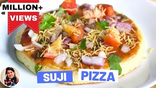 Indian Style Suji Pizza Recipe-Easy Pizza Recipes In Hindi-Breakfast Recipes - Snacks Recipes-Ep-182