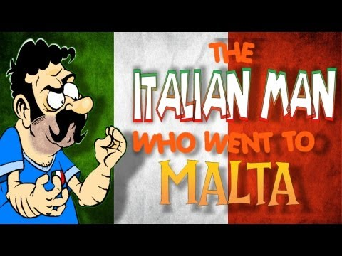 The Italian Man Who Went To Malta - (official Animated Version) video