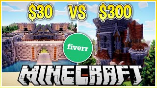 I Paid Someone $300 To Build A Castle in Minecraft... ($30 vs $300)