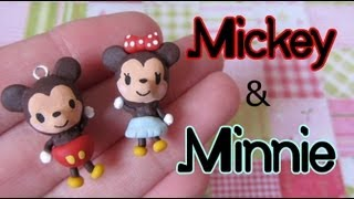 Mickey & Minnie Mouse Tutorial_ Polymer Clay Charm Pair!