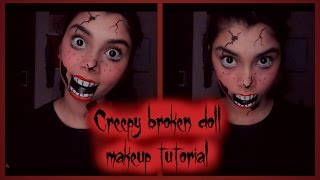 Creepy Broken Doll Makeup | 2015