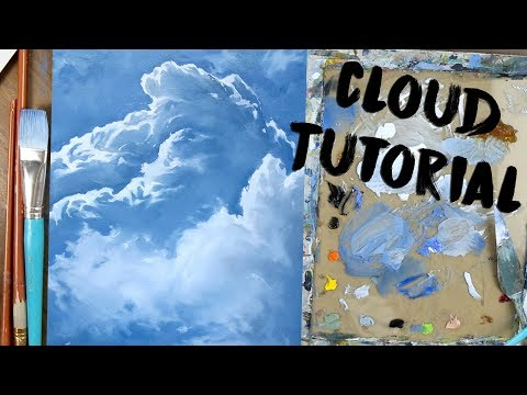 How to Paint Clouds - Oil Art Tutorial