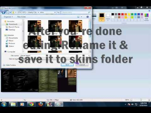 How to edit skins in gta 3 & gta vice city #1