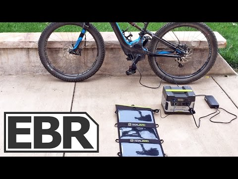 Goal Zero Yeti 400 Solar Generator Kit Video Review - Solar Charging an Electric Bike