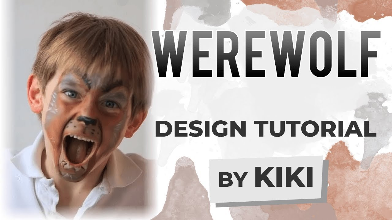 Werewolf Face Painting Instructions