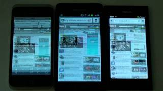 Comparatif vitesse web : iPhone 4S, Galaxy S 2, Nokia N9 - par Test-Mobile.fr