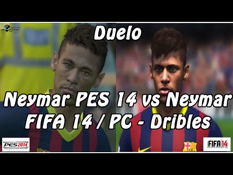 Neymar Pes 14 Vs Neymar Fifa 14 / Pc - Dribles