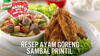 Royco Bumbu Komplit Ayam Goreng: Ayam Goreng Sambal Printil